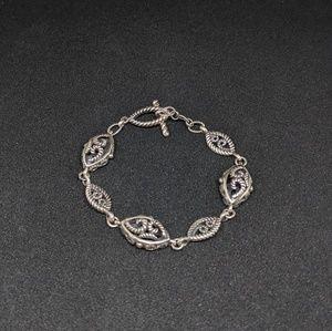 "Barse 925 Sterling Silver Bracelet 7 3/4"" long"
